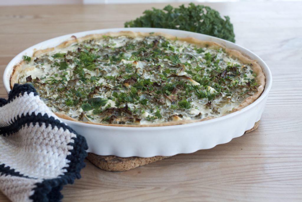 Quiche mit Grünkohl und Feta